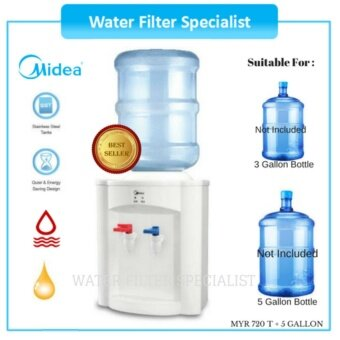 Harga Midea water dispenser MYR720T Hot & Normal with 5 Gallon emptybottle
