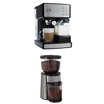 Harga Mr. Coffee Cafe Barista Espresso Maker and BVMC-BMH23 Automatic Burr Mill Grinder Bundle
