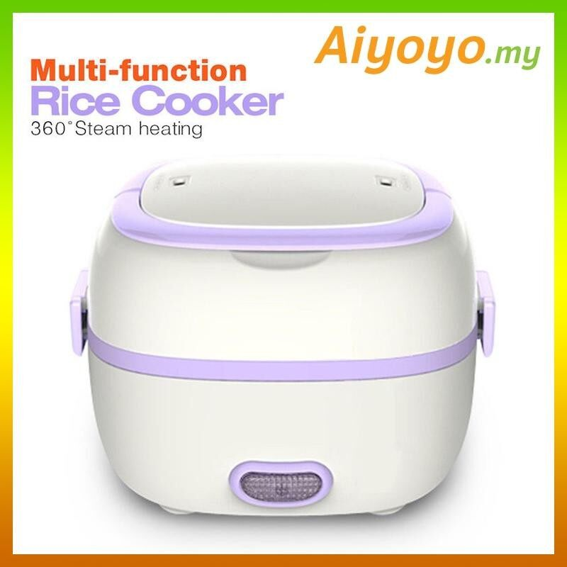Multifunction Portable Electric Mini Rice Cooker Lunch Box Steam Heating Steamer Stainless Steel Student Dormitory