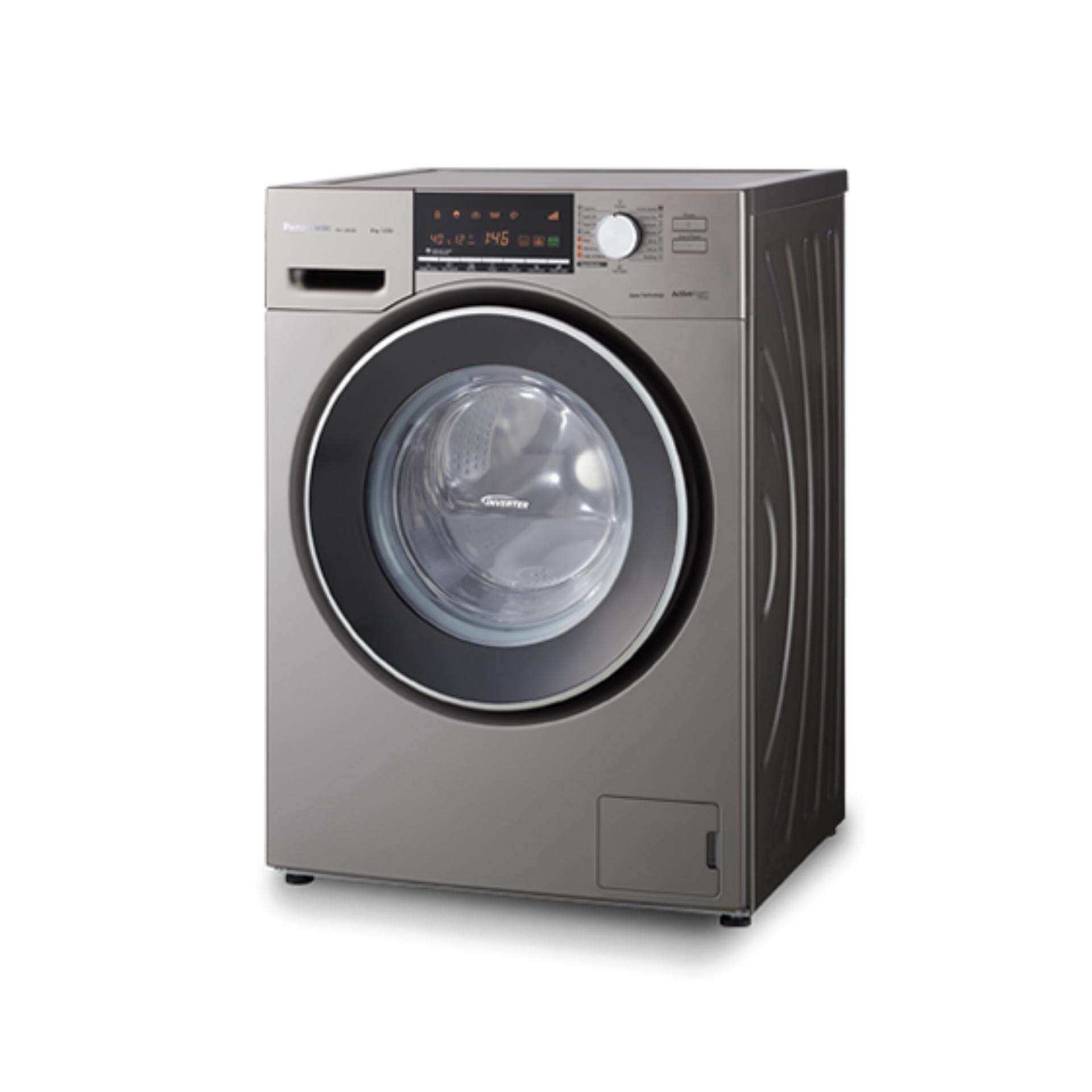 PANASONIC 8KG Front Load Washer NA-128VX6LMY - ActiveFoam System with Fast Wash