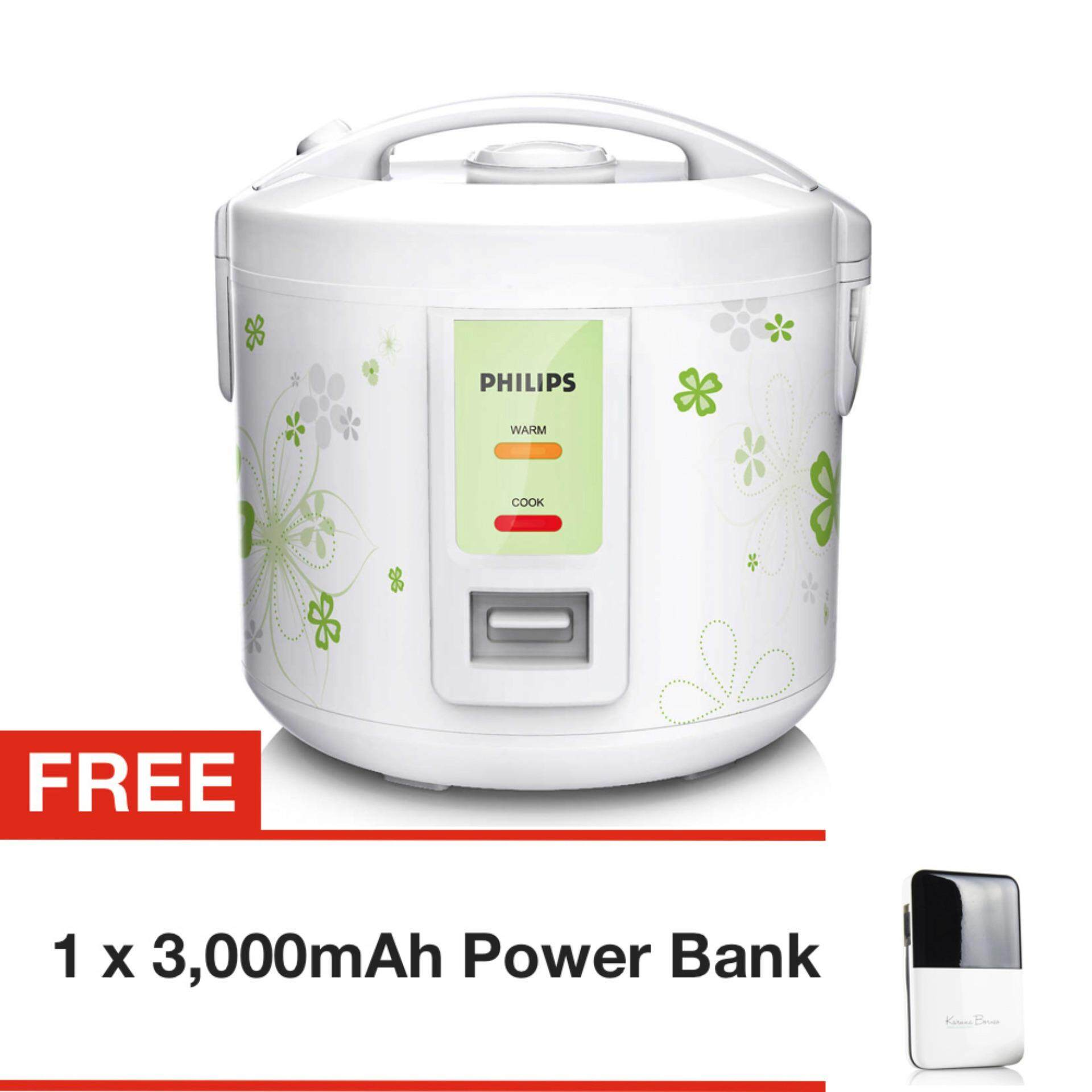Philips 1.0L Jar Rice Cooker HD3011 with FREE 3,000 mAh Lithium Polymer Power Bank