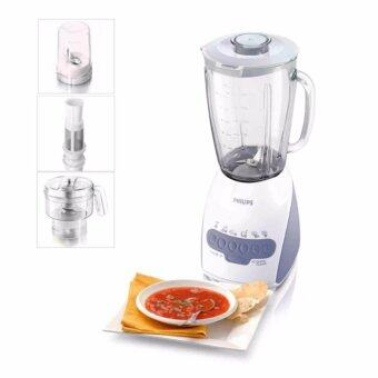 Harga Philips Blender HR2120 (600W) 2.0L Glass Jar + Chopper + Mill + Filter