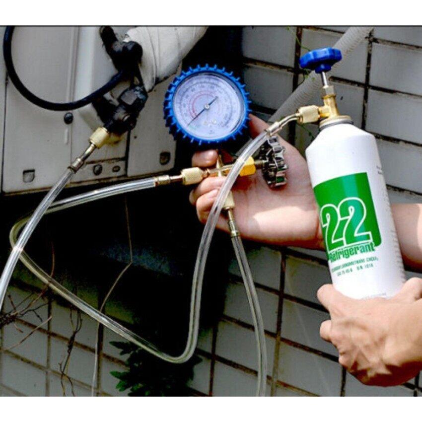 R22 Pendinginan AC Manifold Gauge Freon HVAC Pengisian Alat-Internasional