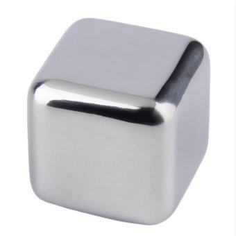 Reusable 304 Stainless Steel Whiskey Cooler Stones Ice CubesChillers Drink (Silver)