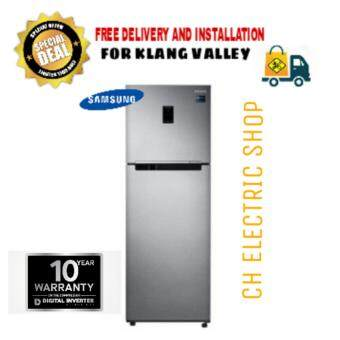 SAMSUNG 2 DOOR REFRIGERATOR 410L (SILVER) - RT32K5552SL/ME (FREE DELIVERY AND INSTALLATION)