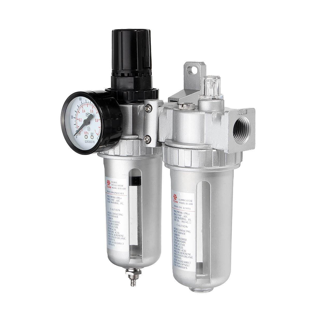 Detail Gambar SFC400 1/2 ''Minyak Kompresor Udara Lubricator Kelembaban Penyimpan Air Filter
