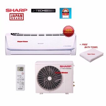 Sharp J-Tech Inverter AHX12UED & AUX12UED 1.5hp Inverter Split Air-Conditioner - R410a - 5 star + Free Bath Towel