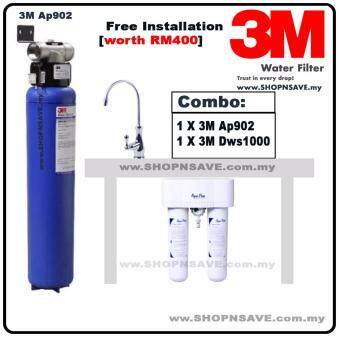 SHOPNSAVE combo: 3M AP902 Outdoor Filter Water Filter + 3M DWS1000 UnderSink Water Purifier