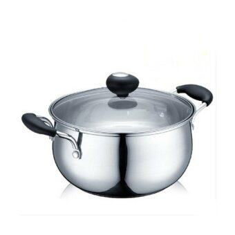 Stainless Steel Cookware 20cm Cooking Pot Soup Pan Induction withGlass Cover