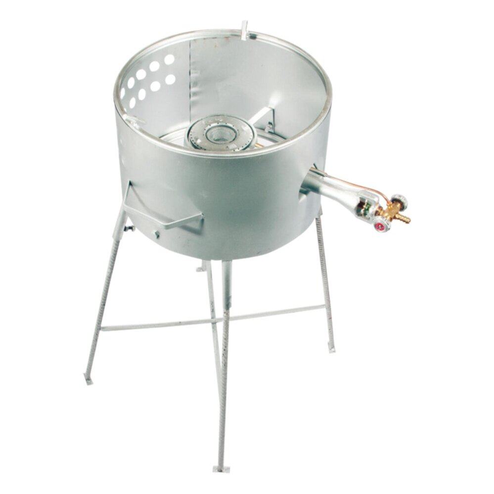 4 Legs Outdoor Standing Gas Stove With Drum Free Regulator For Pasar Malam Shipping Silver