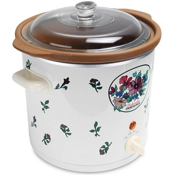Takada SC-5500A FLH 5.5L High Heat Slow Cooker (Floral/Semi-White)
