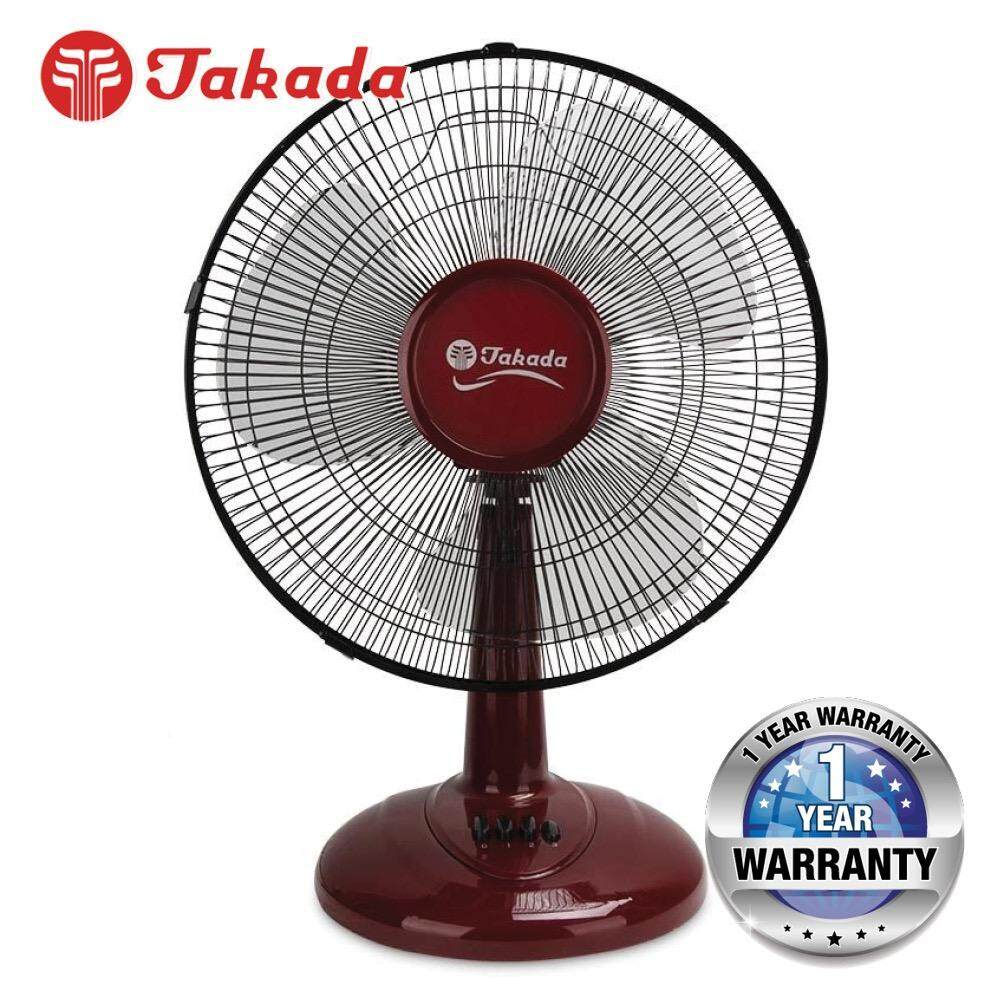 Takada TKFT-16A 16-inch Desk Fan with 3 Wind Speed and Wide Sweep Osciliation