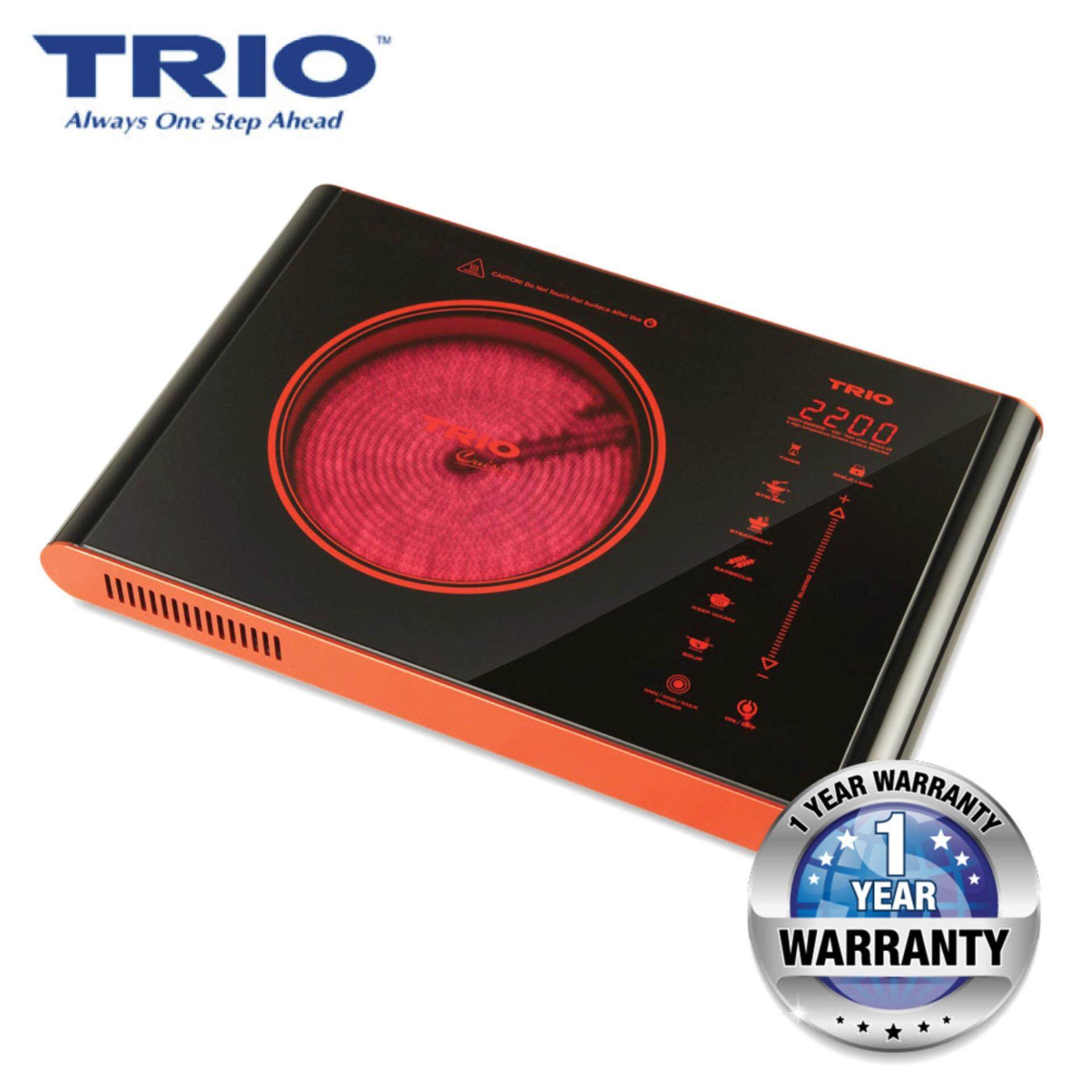 TRIO TCR-20 Ceramic Cooker with 5 Various Cooking Preset Functions