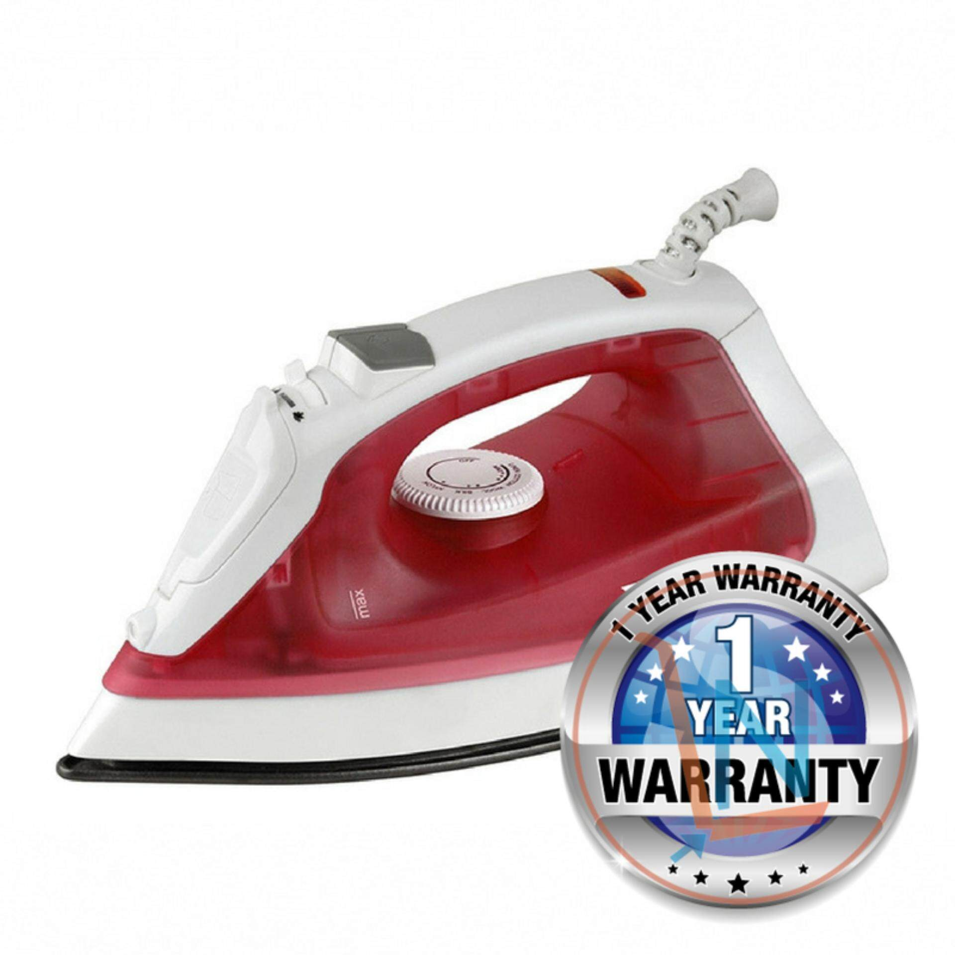 Trio TISB-127 Steam Iron Non-stick Soleplate (Red)