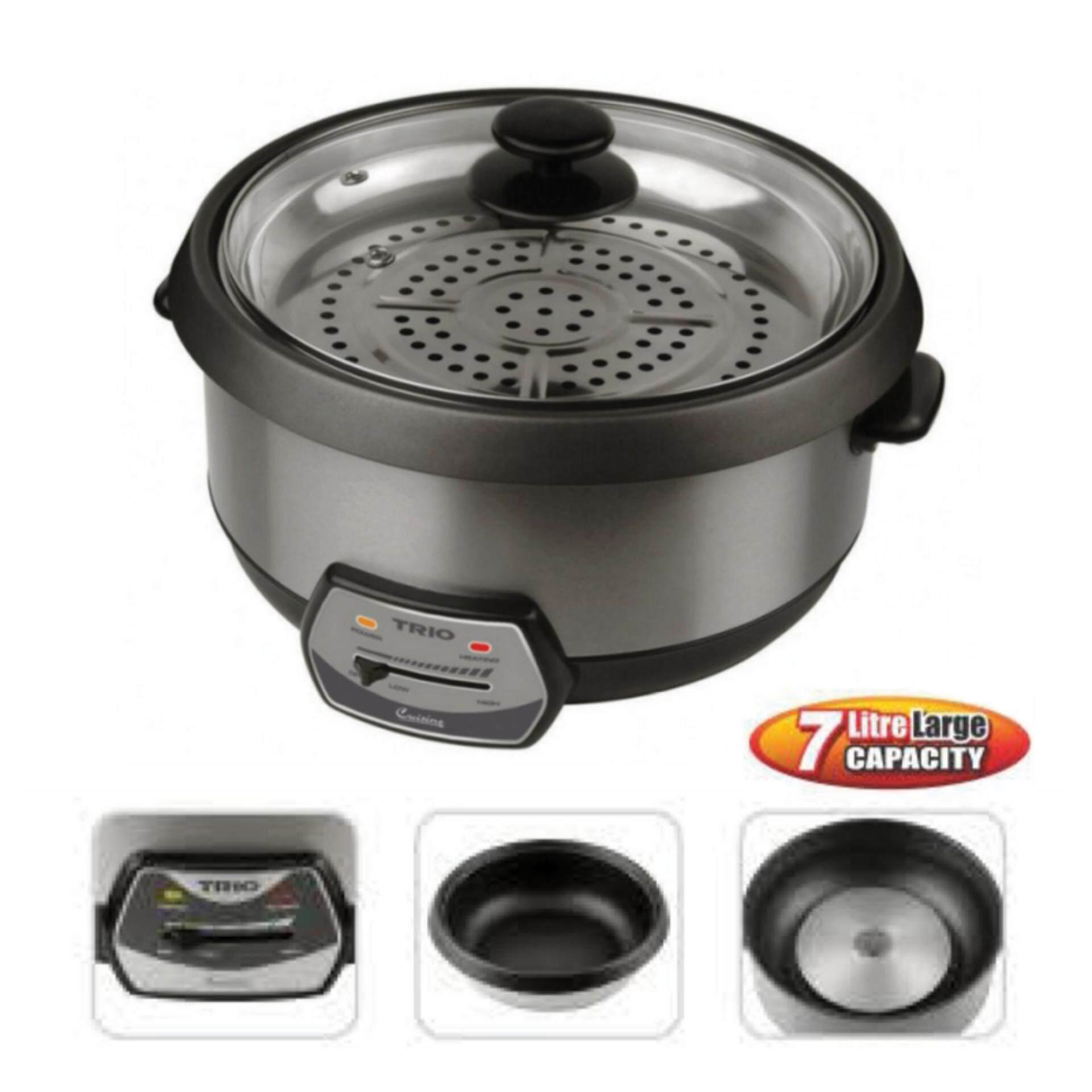 Trio TMC-710 Large Capacity Multi Cooker 7L (Black)