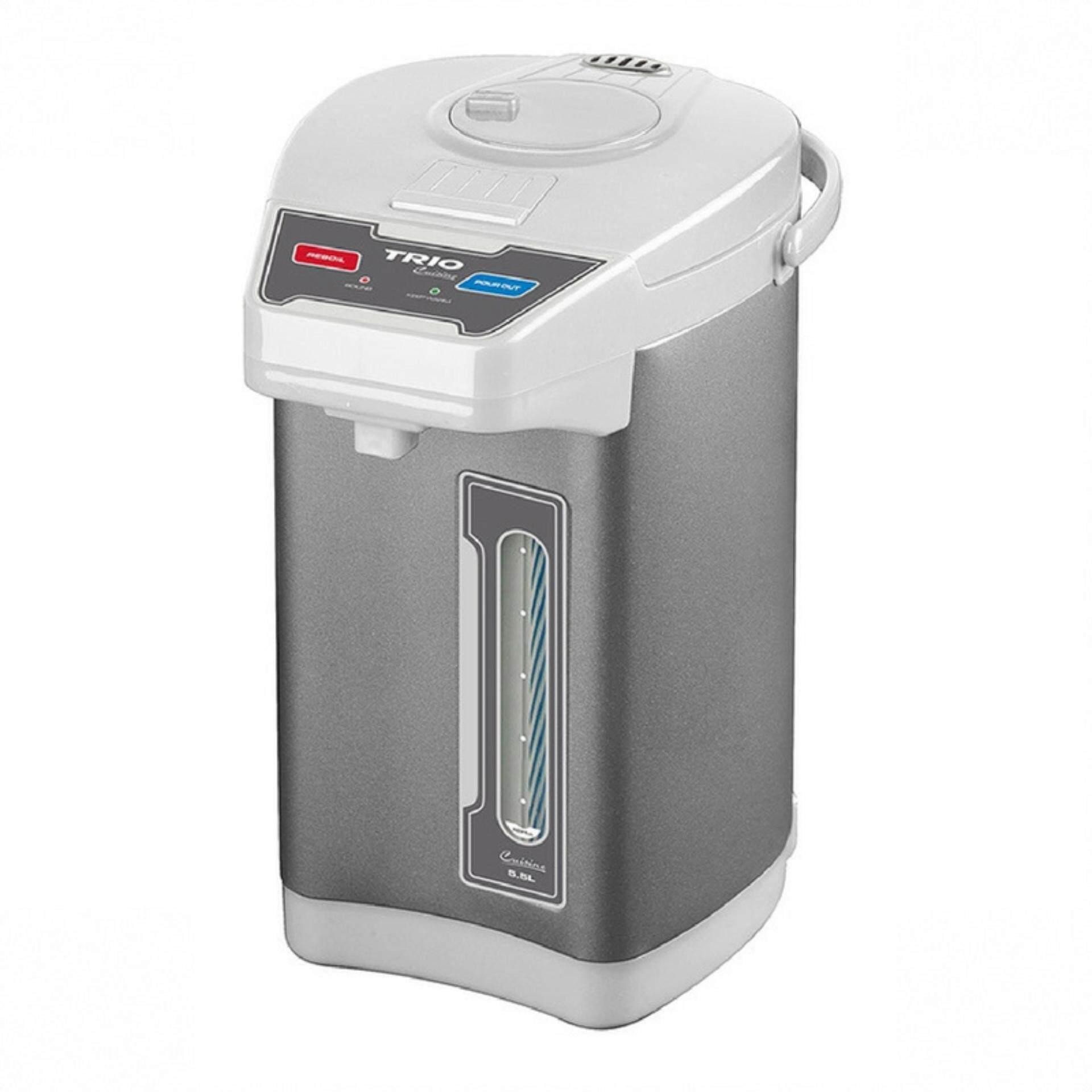 Trio TTP-555 Thermopot 3-Way Dispenser 5.5L (Metallic White)