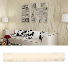 Hình ảnh 10M Home 3D Wave Flocking Wallpaper Living Room Wall Covering Decoration - intl