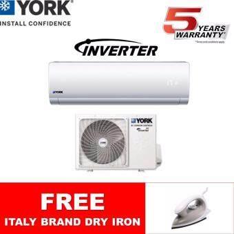 YORK 1HP INVERTER AIR CONDITIONER YWM5J10AAS-W / YSL5J10AAS *FOC DRY IRON