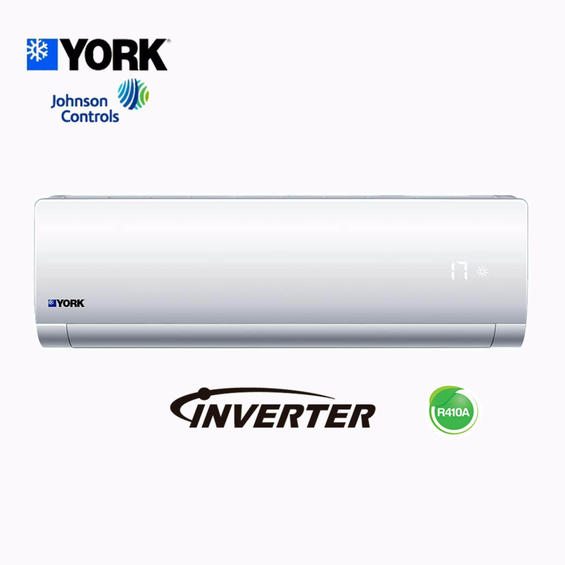 YORK INVERTER 1.0HP AIR COND AIR CONDITIONER YWM5J10AAS-W/YSL5J10AAS (R410A) image on snachetto.com