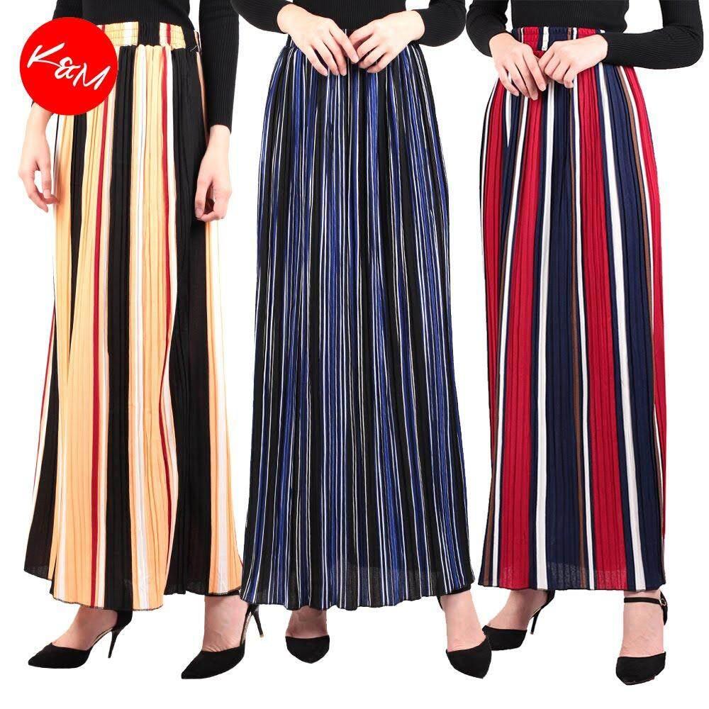 KM A Line Multicolor Maxi Skirt [M16334]