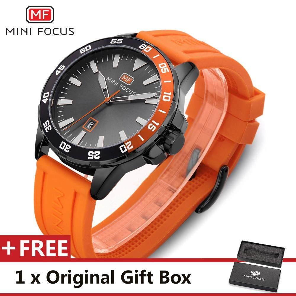 MINI FOCUS นาฬิกาสุดหรูนาฬิกาข้อมือมียี่ห้อแฟชั่นที่มีชื่อเสียงกีฬา Cool Men นาฬิกาควอตซ์ปฏิทินกันน้ำหนังข้อมือนาฬิกาข้อมือสำหรับชาย MF0020G.01_FZ1