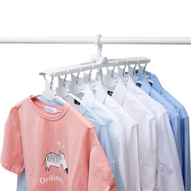 SEOKO Hanger Magical Multi-function Magic Hanger Folding Multi-layer Space Home Wardrobe Storage Rack