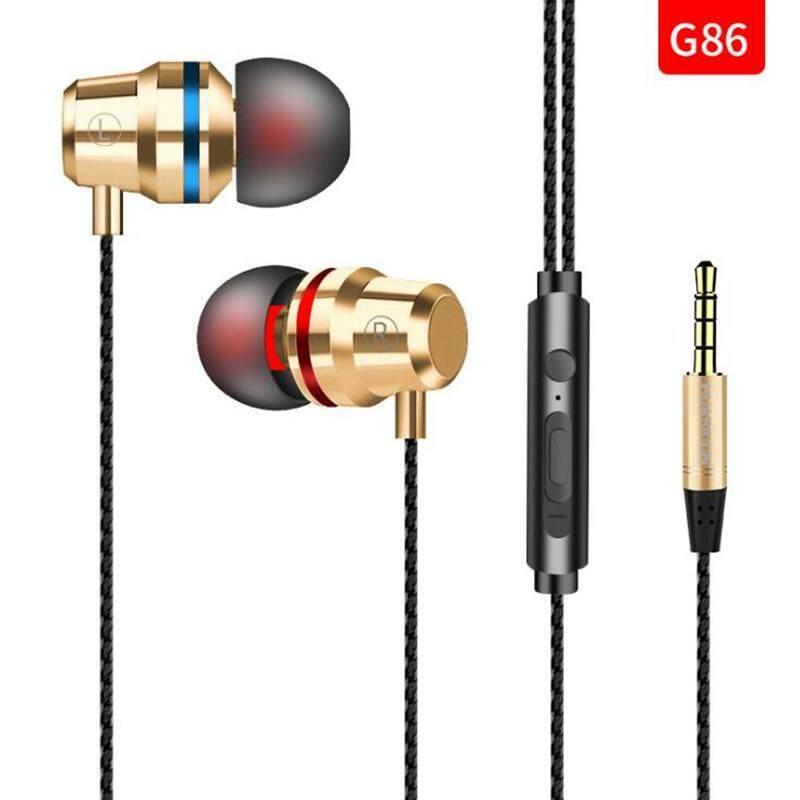 5 สี 3.5 มม.หูฟังแบบมีสายหูฟังในหูหูฟังหูฟังพร้อมไมโครโฟนสเตอริโอชุดหูฟังสำหรับโทรศัพท์ Samsung Xiaomi คอมพิวเตอร์
