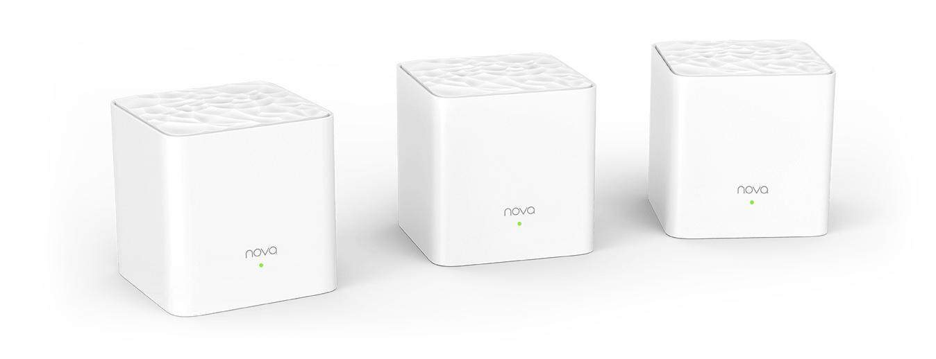Tenda MW3 3 Pack AC1200 Compact Cube Size Whole Home Mesh WiFi System Dual Band IPTV Support Unifi TIME Maxis Fibre