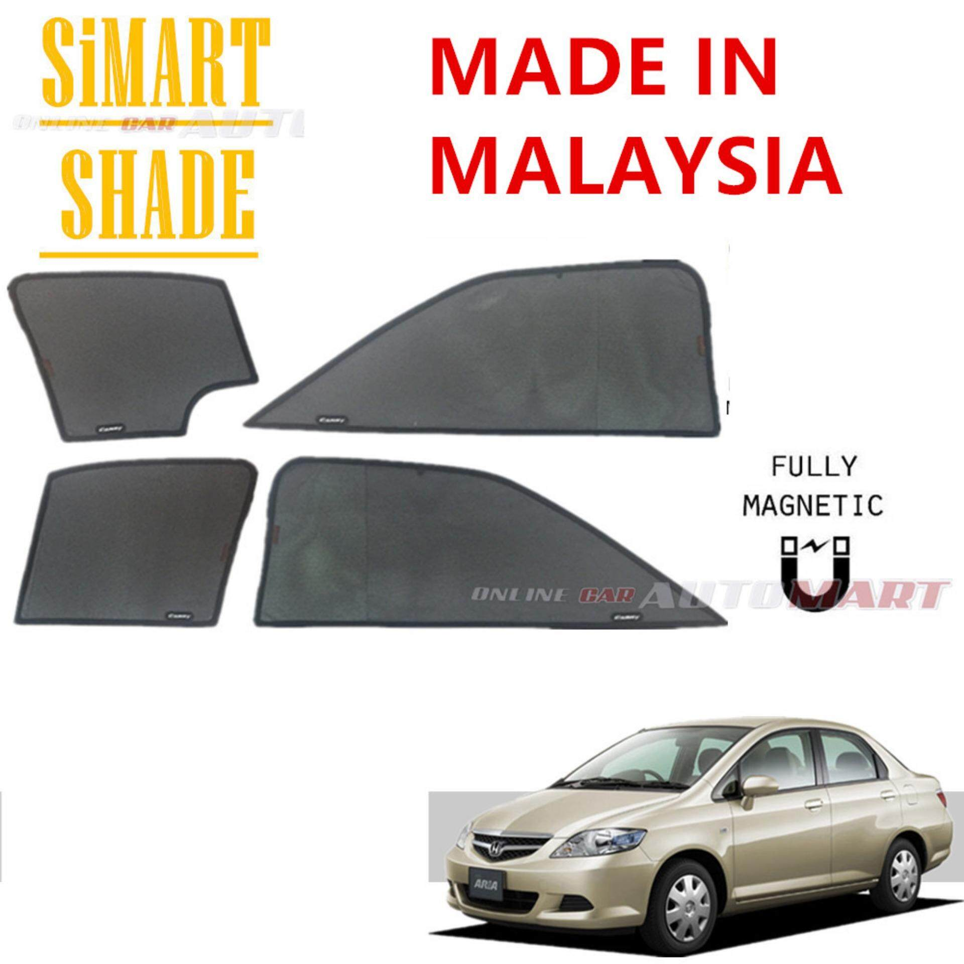 Simart Shade Magnetic Custom Fit OEM Sunshade For Honda City GD9 Yr 2002-2007 4pcs (Made In Malaysia)
