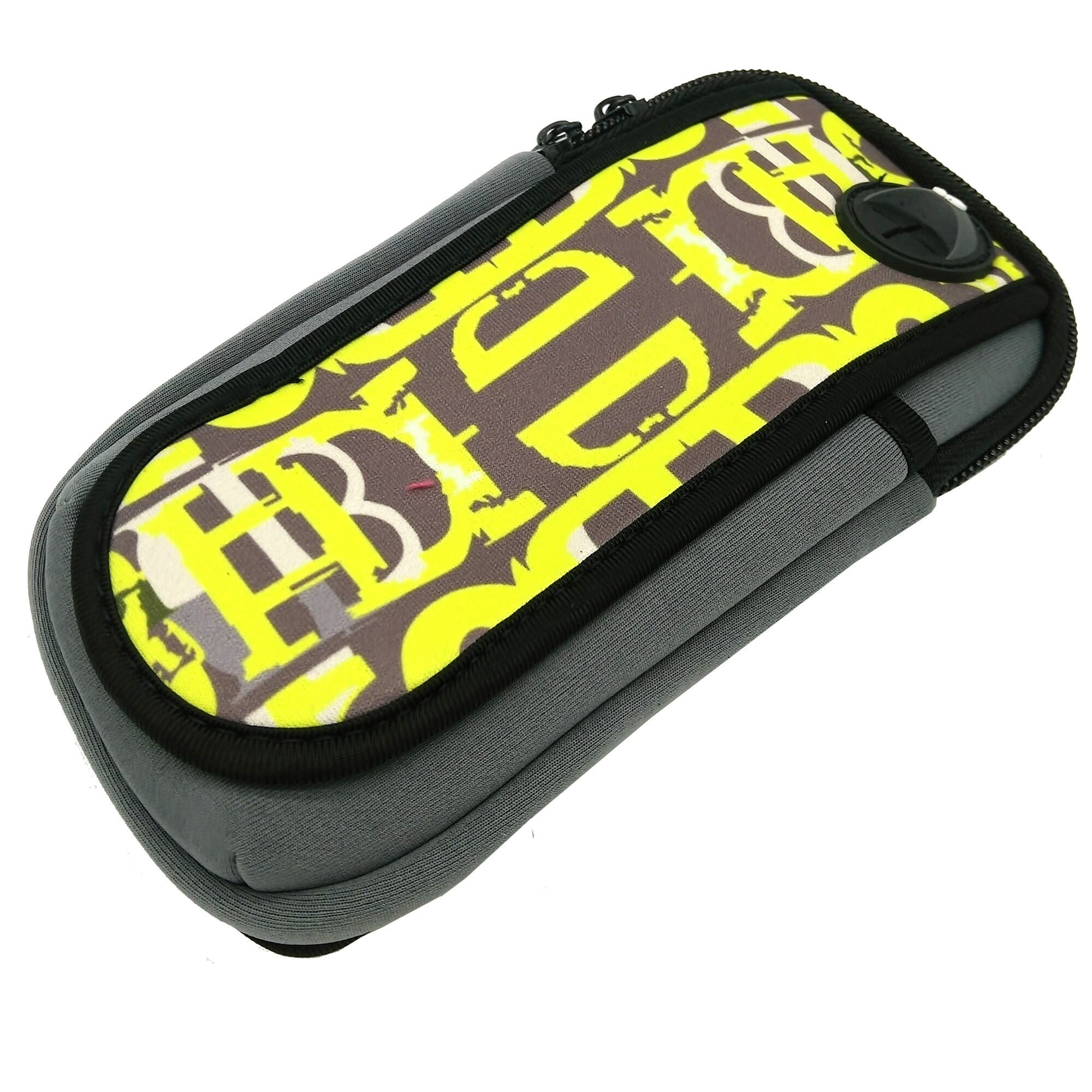 "18.5 x9.5 Sports Cycling Running Jogging Portable Wrist Pouch Mobile Cell Phone Hand Arm Band Bag Wallet Coin Purse For 1~6"" inch Iphone HTC Samsung And More (Grey & Yellow)"