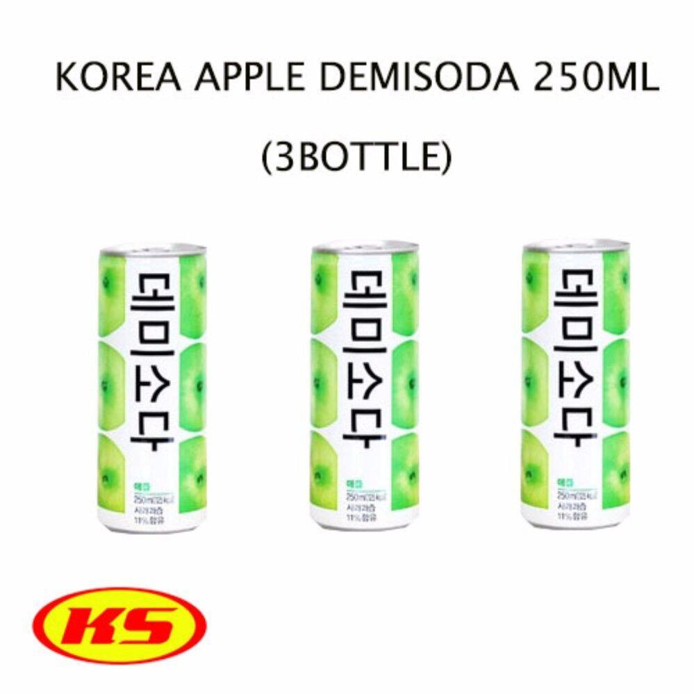 (3CAN) KOREA LOTTE APPLE DEMISODA DRINK 250ML