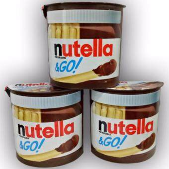Harga 3x Nutella &GO 39g / Breadsticks 13g