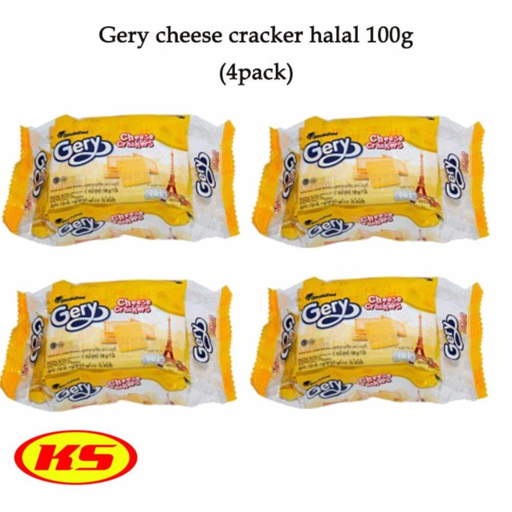 (4PACKS) GERY CHEESE CRACKERS HALAL 100G