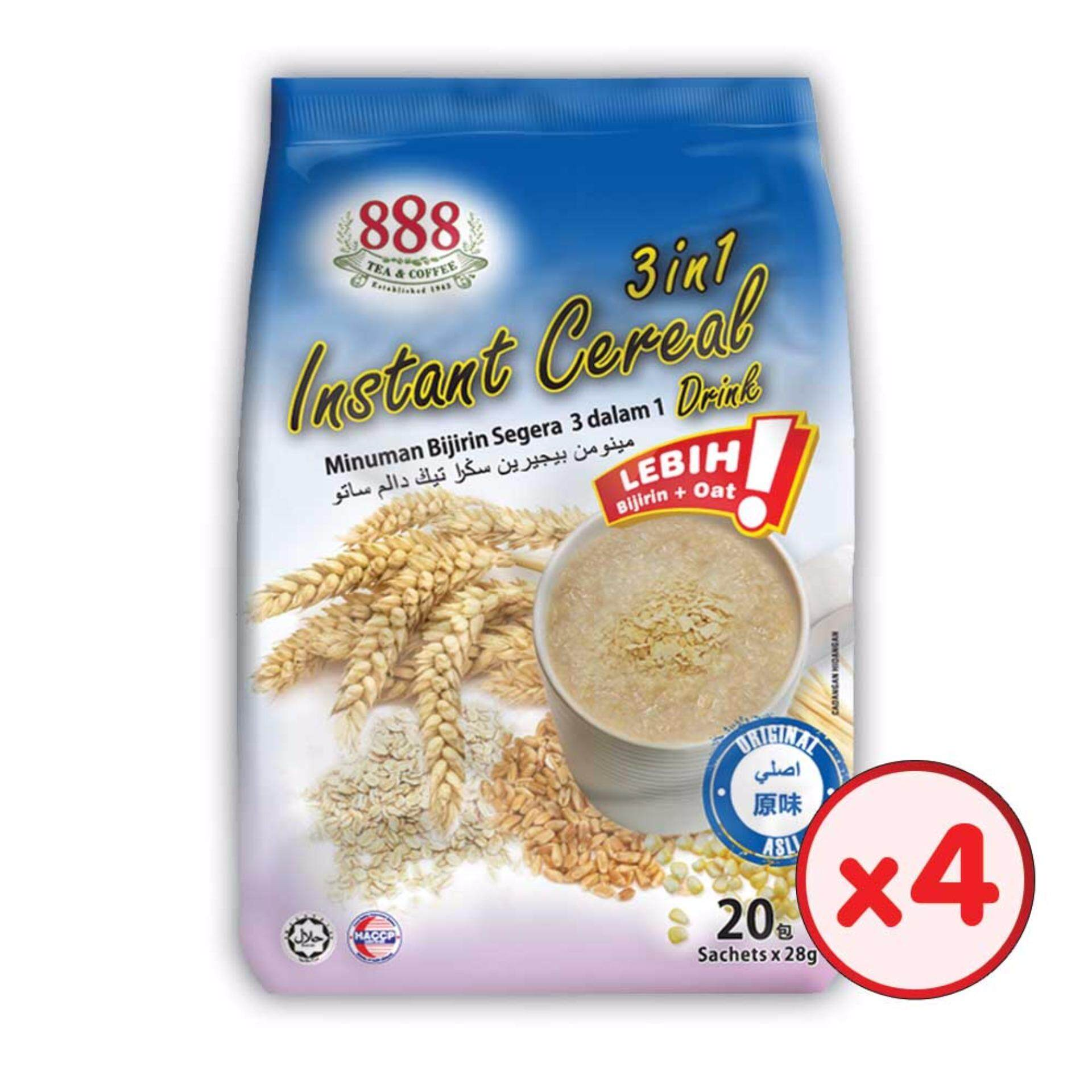 888 3 in 1 Instant Cereal - Original (28g x 20 Sachets) - [Bundle of 4]