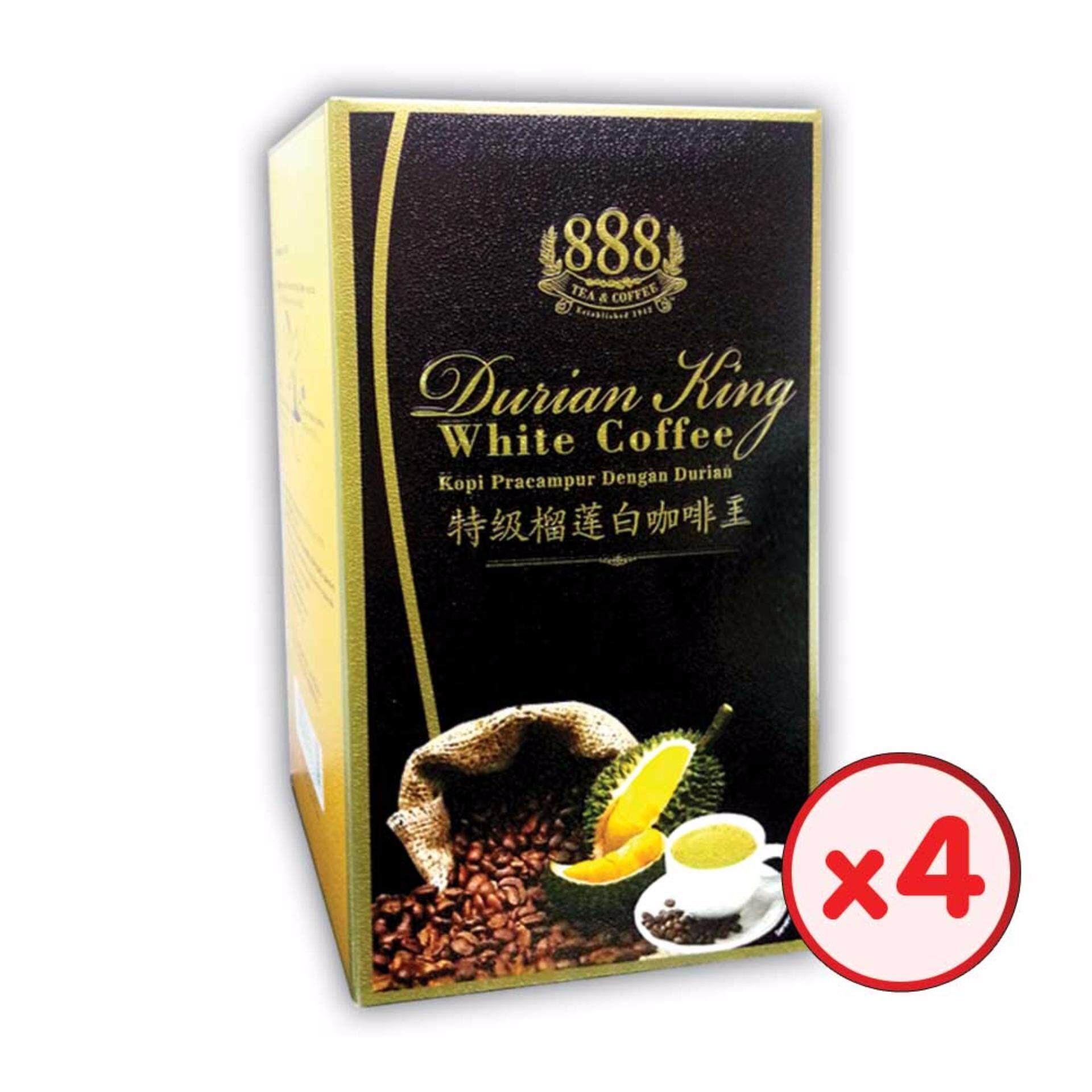 888 3 In 1 Instant Durian King White Coffee (30g x 10 Sticks) - [Bundle of 4]