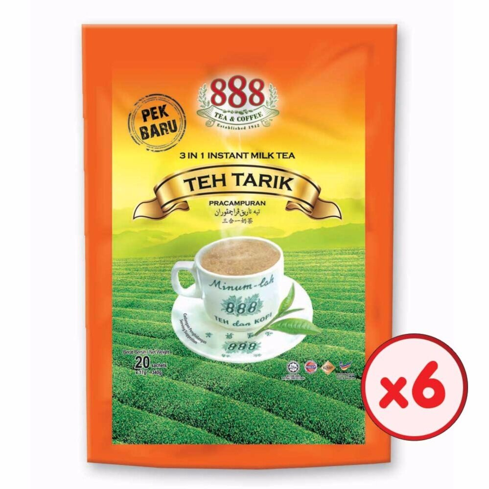 888 3 in 1 Instant Milk Tea Value Pack (17g x 20 Sachets) - [Bundle of 6]