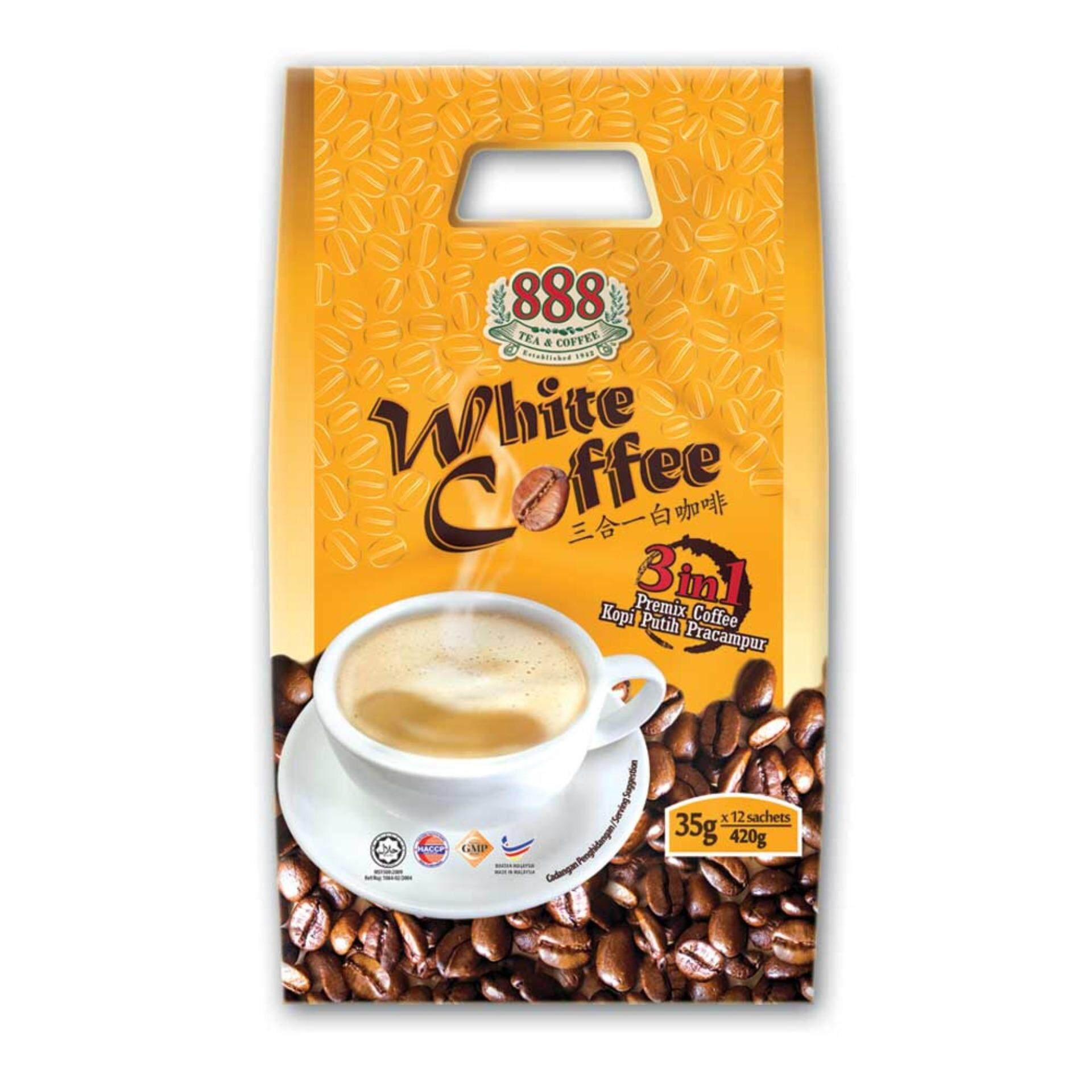 888 3 In 1 Instant White Coffee (35g x 12 Sachets)