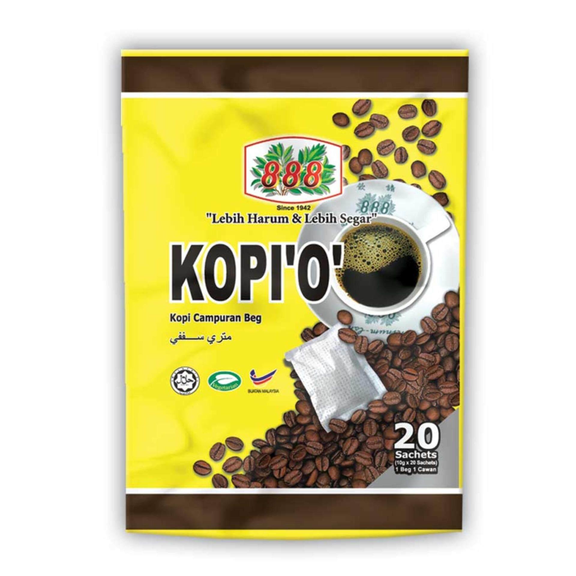 888 Kopi O Kosong (10g x 20 Sachets)