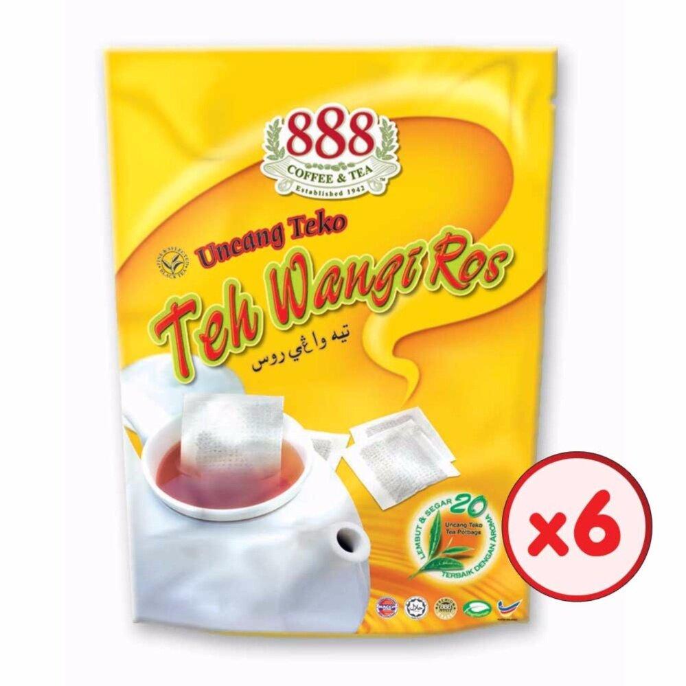 888 Teh Wangi Ros Pot Bag (2g x 20 Sachets) - [Bundle of 6]