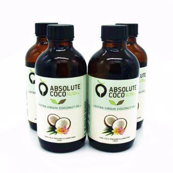 Absolute Coco Extra Virgin Coconut Oil 4 x 125ml