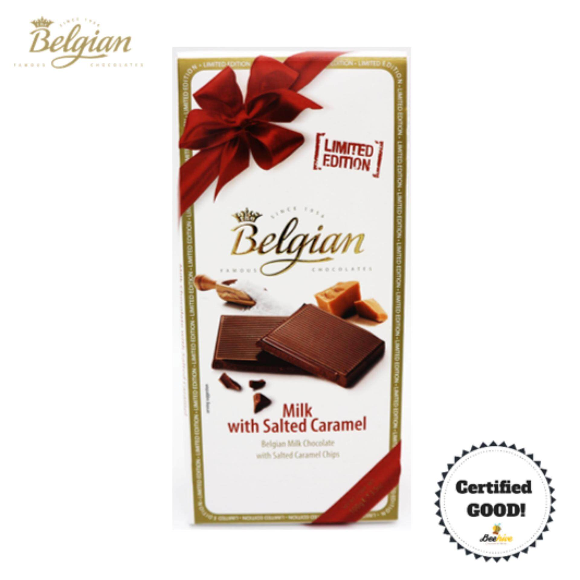 Belgian Limited Edition Milk with Salted Caramel 100g