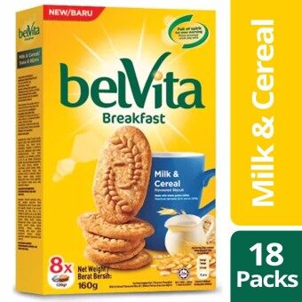 Harga Belvita Breakfast Biscuits, Milk & Cereal,18 Packs of 160g Each