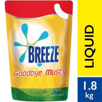 Breeze Detergent Liquid Indoor Drying Goodbye Musty Refill Pack 1.8 kg