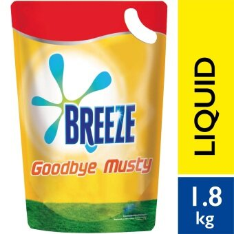 Breeze Detergent Liquid Indoor Drying Goodbye Musty RefillPack1.8kg