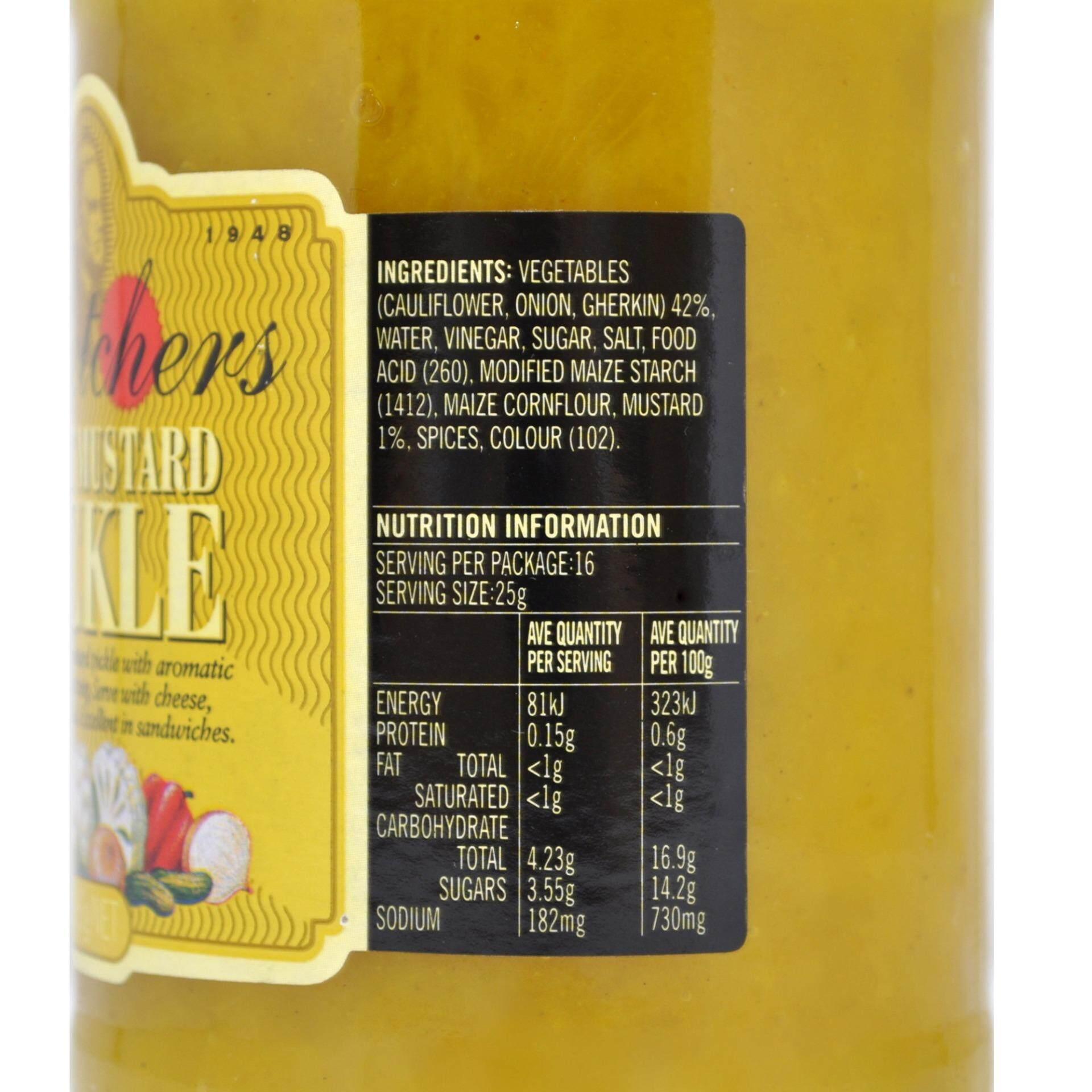 FLETCHERS Sweet Mustard Pickle 395g
