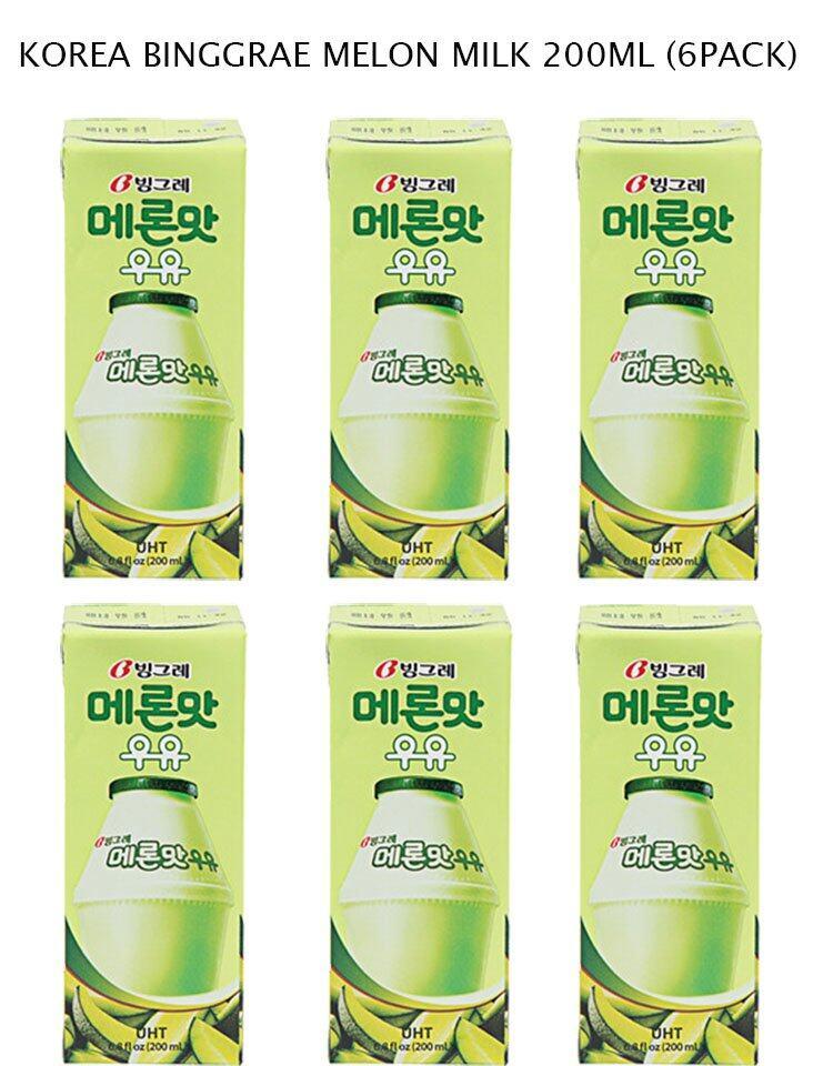 HALAL (6pack) KOREA BINGGRAE MELON MILK DRINK 200ML