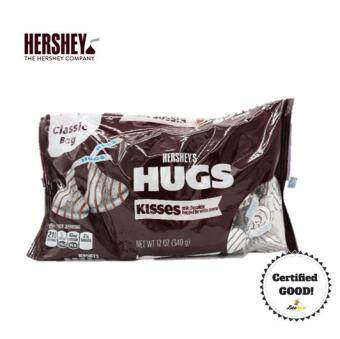 Harga Hershey's HUGS Milk Chocolate with White Creme 340g
