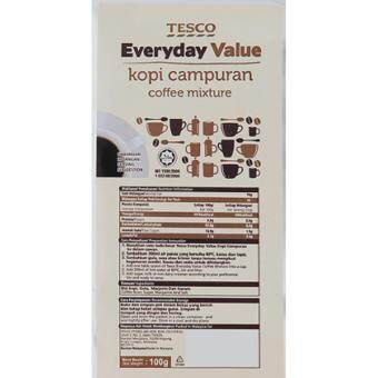Harga TESCO EVERYDAY VALUE KOPI CAMPURAN 100GM