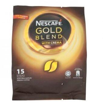 Harga Nescafe Gold Blend With Crema Premix Coffee 15s x 20g