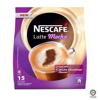 Harga NESCAFE Latte Mocha 15 Sticks, 31g Each